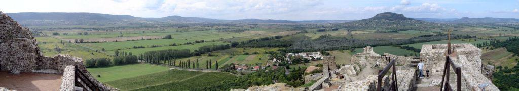 Balaton - pogled z gradu Szigliget v smeri N.P. Balaton Felvidek